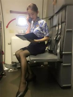 Okay Airways Cabin Crew Airline Attendant, Flight Attendant, Flight Girls, Airline Cabin Crew, Korean Short Hair, How To Pose, Nice Legs, Dress For Success, Sexy Asian Girls