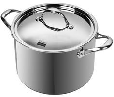 Cooks Standard Multi-Ply Clad Stainless-Steel 8-Quart Covered Stockpot, Silver