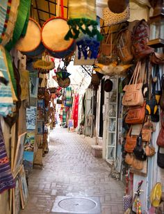 The medina in Tangier, found this place a little scary talk about being hounded to buy things!