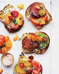 Garlic-Toasted Tomato Sandwiches Recipe on Food & Wine