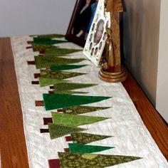 This is the layout and templates for the Christmas Tree Table Runner tutorial.