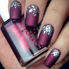 1. Metallic nails look so rad with a matte topcoat. Fall and winter 2016