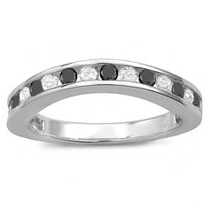 Carat (ctw) White Gold Round White And Black Diamond Curved Guard Matching Bridal Wedding Band >>> Awesome product. Click the image : Wedding Ring Enhancers White Gold Wedding Rings, Wedding Rings For Women, Wedding Bands, Rings For Men, Wedding Ring Enhancers, Engagement Ring Enhancers, Engagement Rings, Wedding Ring Designs, Wedding Jewelry