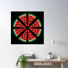 """""""Watermelon Slices"""" Poster by Pultzar   Redbubble"""