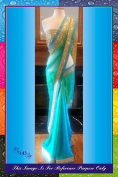 Bollywood Blue Replica Saree from HD Bazaar