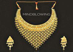 Gold Jewelry Simple, Stylish Jewelry, Bridal Bangles, Bridal Jewelry, Indian Wedding Jewelry, Gold Jewellery Design, Jewelry Patterns, Gold Necklace, Jewels