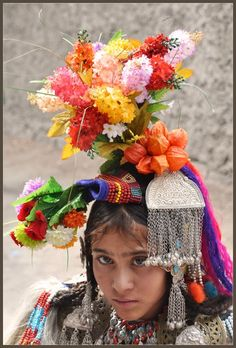 India, Ladakhh | Brokpa girl from Dha-Hanu valley | ©Fransje Grisnich