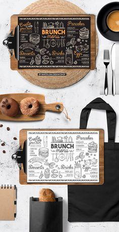 Brunch food menu by BarcelonaShop on @creativemarket