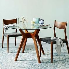 Jensen Round Glass Dining Table