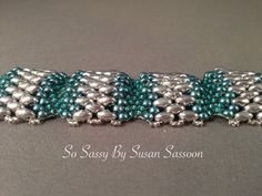 This tutorial will teach you how to make this fun and elegant bracelet using flat Cellini stitch. The tutorial is 8 pages long and has both Bead Crochet Patterns, Bead Embroidery Patterns, Beading Patterns Free, Beaded Bracelet Patterns, Jewelry Patterns, Bracelet Designs, Weaving Patterns, Mosaic Patterns, Painting Patterns