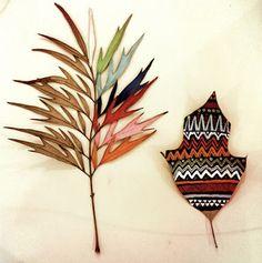 Ame Design - amenidades do Design . blog: Pintando folhas
