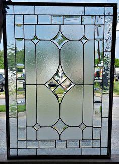 Modern Bevels-Stained Glass WindowW-250 | Etsy Leadlight Windows, Leaded Glass Windows, Stained Glass Panels, Stained Glass Patterns, Stained Glass Art, Glass Wall Art, Glass Door, Window Glass, Art Nouveau