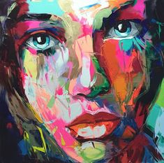 Cheap painting impasto, Buy Quality knife painting directly from China palette knife painting Suppliers: Palette knife painting portrait Palette knife Face Oil painting Impasto figure on canvas Hand painted Francoise Nielly L'art Du Portrait, Abstract Portrait, Abstract Faces, Portraits, Art Visage, Palette Knife Painting, Art Et Illustration, Arte Pop, Wall Art Pictures