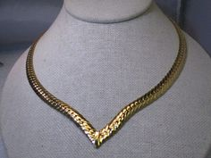 Joan Rivers Herringbone V Necklace 18 long 8m by stampshopgirl
