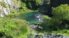 Hidden lagoon in Wales