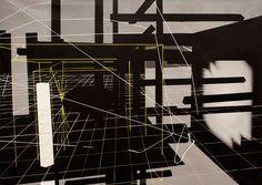Virtuální prostory [1] - akryl na plátně (140 x 100 cm) 2014