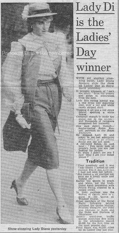 Memories Of Diana - Lady Di Is The 'Ladies Day' Winner At Royal Ascot - June 18th 1981