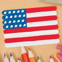 Make a Fun 4th of July Popsicle Stick Craft!