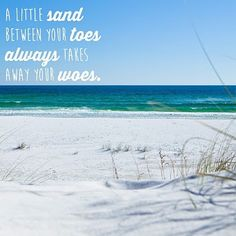 May our worries be taken away by the sea.