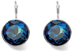 I LOVE BLUE! Diamonds In The Sky, Love Blue, Crystal Drop, Girls Best Friend, Swarovski Crystals, Drop Earrings, Jewellery, My Style, Brown