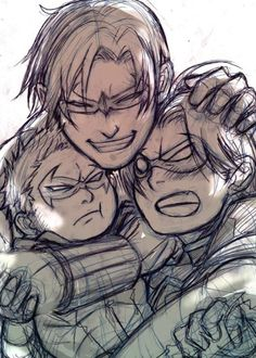 Dick, Tim and Damian ~ hahahaha Dick is forcing them to be that close to each other? there will be blood