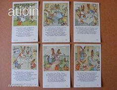 Nyuszitanya. Eredeti Ida Bohatta szorgalom kártya a 30-s évekből! Original Rare Print! Fleißbildchen