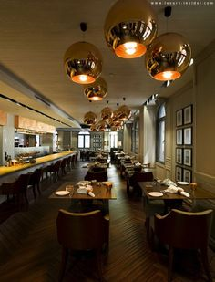 Tom Dixon Copper Shade in Issimo in JIA Shanghai http://ecc.co.nz/lighting/indoor/pendants-chandeliers/contemporary/copper-shade