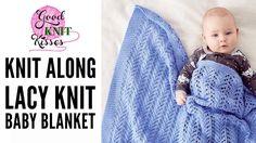 Knit Along Lacy Knit Baby Blanket with Bernat Baby Sport