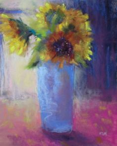 More Sunflowers, painting by artist Karen Margulis