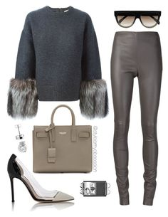 Untitled #1642 by dnicoleg on Polyvore featuring polyvore fashion style Michael Kors Joseph Gianvito Rossi Yves Saint Laurent CÉLINE clothing