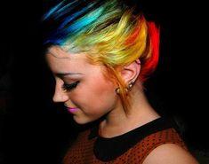 colorful rainbow hair