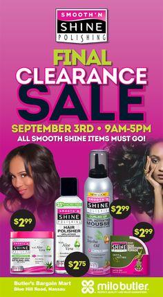 Final Clearance #Sale #Tomorrow MiloButler! Win a Washer & Dryer for Mom! #Nassau #saturday Smooth N Shine