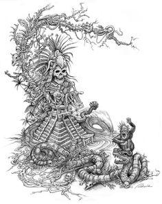 Mayan Warrior by Rick Rietveld