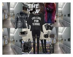 """Hate School"" by alicehorrorx ❤ liked on Polyvore featuring Chanel, Valentino, Spallanzani, BESTshop and Boohoo"