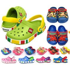 2015 New Kids Garden Shoes Children's Sandal crocs crocband kids Slippers boys Mules girls mickey Clogs summer Sneakers cartoon baby shoes LEGO 3D cartoon $14.03 free shipping