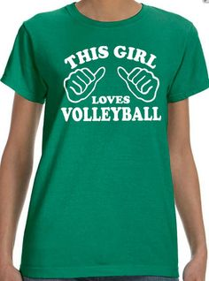Volleyball Shirt This girls loves volleyball womens t by ebollo, $12.95