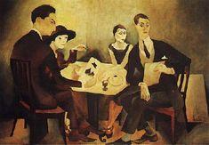 "Almada Negreiros: ""Auto-Retrato num Grupo"". Ano: 1925. Local: Centro de Arte Moderna (Lisboa)."