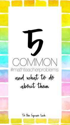 Common problems math teachers have and what to do about them- plus free activities! Math Teacher, Math Classroom, Teaching Math, Teacher Problems, Math Workbook, Order Of Operations, 7th Grade Math, Math Notebooks, Percents