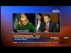 Sen. Rand Paul Questions Secretary Clinton at SFRC Benghazi hearing -- Senator Rand Paul for President!!