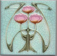 Art Nouveau Arts & Crafts Ceramic Tiles Fireplace Bathroom Kitchen an 55 - Keramik Motifs Art Nouveau, Azulejos Art Nouveau, Design Art Nouveau, Motif Art Deco, Art Nouveau Pattern, Arts And Crafts House, Easy Arts And Crafts, Jugendstil Design, Bijoux Art Deco