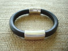 NEW ITEM Men's Licorice Leather Bracelet Free by SonseraeDesigns, $35.00