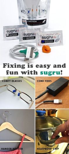 Sugru is fabulous stuff.  You will find yourself sitting around thinking of new ways to use it! On Facebook