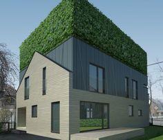 green design, eco design, sustainable design, Zalewski Architecture Group, Zabrze, Dh House- urban Sandwich, green roof