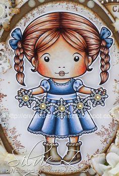 La La Land Crafts card by Silvie-Z. Dress: B99, 97, 95, 93, 91, 60, C00 Boots: E47, 44, 43, 42 40 Hair: E29, 28, 17, 15, 13, 11 Skin: E13, 11, 01, 000, 0000; R22, 20