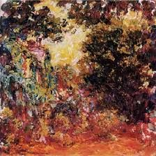 Learn more about The Artists House Seen From The Rose Garden Claude Oscar Monet - oil artwork, painted by one of the most celebrated masters in the history of art. Claude Monet, Monet Paintings, Printmaking, Illustrators, Garden, Prints, Artwork, Image, Florals