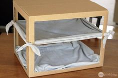 Make A Simple DIY Cat Hammock - One Good Thing by JilleePinterestFacebookPinterestFacebookPrintFriendly