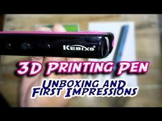 Kebixs Printing Pen: Unboxing and First Impressions ^_^ Stop Working, Hard To Get, 3d Printing, Channel, Told You So, Youtube, Prints, Fun, Impression 3d