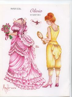paper dolls | ... view will be my next idea for a paper doll or a front and back doll