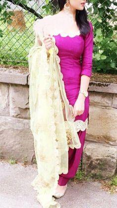 Punjabi Dress Design, Designer Punjabi Suits, Punjabi Salwar Suits, Indian Designer Wear, Salwar Kameez, Patiala Suit Designs, Salwar Designs, Trendy Suits, Stylish Suit