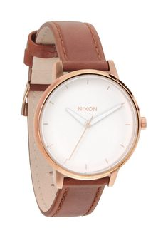 Nixon - Kensington Leather Watch - at Flying A NYC wish list
